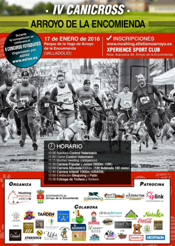Cartel Carrera Canicross Arroyo de la Encomienda 2016